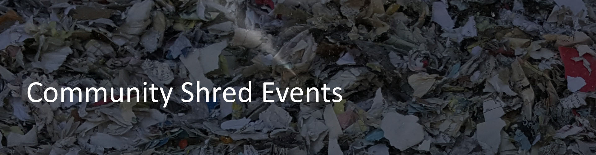 New Jersey Community Shred Events