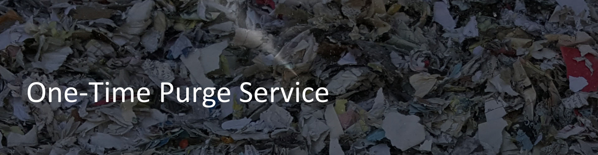 Purge Shredding Service